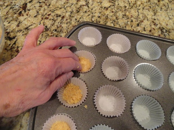 Bake crusts for 6 minutes @ 325°. Stir together crust ingredients and press into bottom...