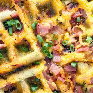 Low Carb Ham and Cheese Waffles Recipe
