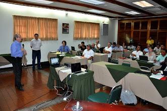 Photo: EARTH University President Dr Jose Zaglul addresses the First Latin America SRI Workshop