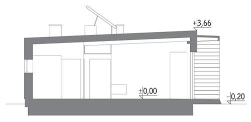 Dom oszczędny - z wentylacją mechaniczną - EC317 - Przekrój