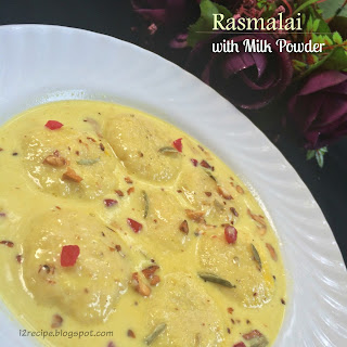 Rasmalai with Milk Powder.