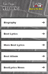 Maroon 5 Lyrics - náhled