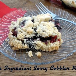 Easy Three Ingredient Berry Cobbler.