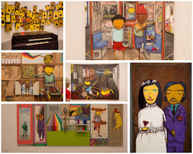 Photo: Street Art to Wall Art - Os Gemeos in Boston's ICA  I first learend Os Gemeos, a pair ofBrazilian street artists, from the street art Google+ feeds of +Luís Pedroand +Kimberly Shoemaker.  So, when in Boston a couple of weeks ago, I was pleasantlysurprisedto find a dozen or so large scale art pieces from the duo not on the side of buildings, but in the highly respected Boston Institute for Contemporary Arts.  This photo is a collage of some of the pieces I photographed in the museum. Good to see some street artists getting respect in the art world!  http://en.wikipedia.org/wiki/Os_Gêmeos  #StreetArtSunday curated by +Mark Seymour+Luís Pedro& myself