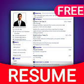 Resume Builder App Free CV maker CV templates 2019 Icon