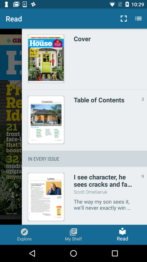 Flipster - Digital Magazines– снимак екрана