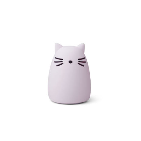 Night light - Cat light lavender