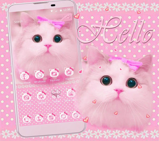 Download Cute Kitty Theme Pink For Pc