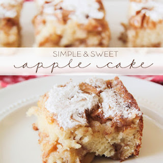 Simple and Sweet Apple Cake.