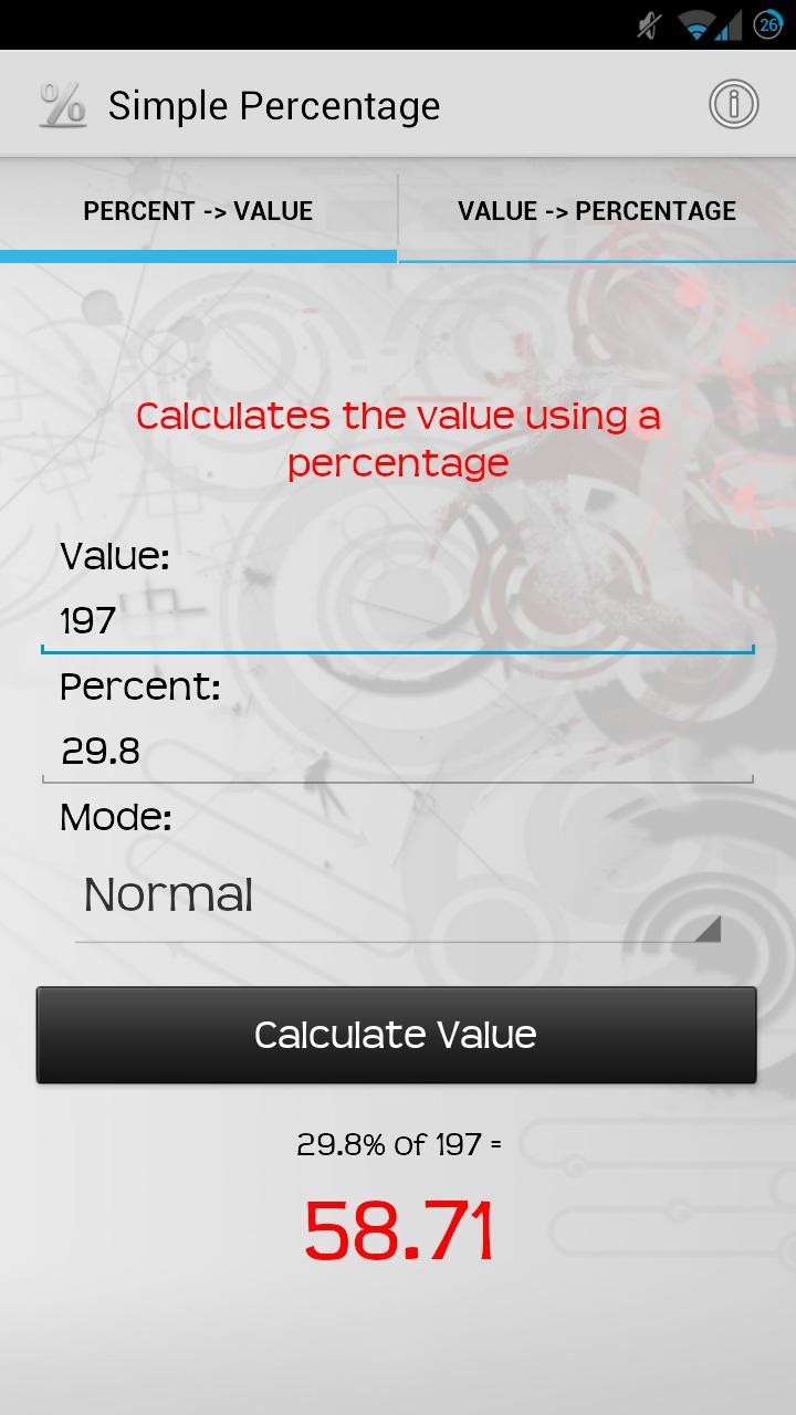 Скриншот Simple Percentage