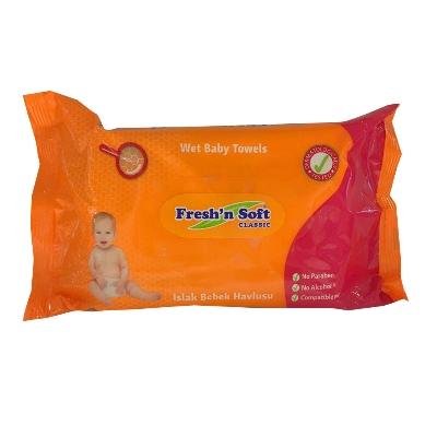 toallas humedas fresh soft classic baby towel 64und