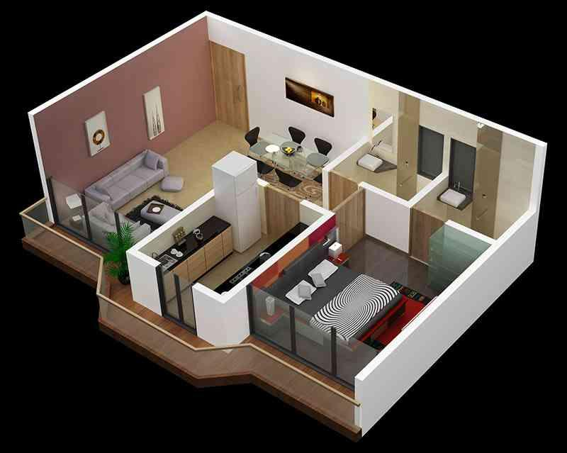 3D Small Home Plan Ideas- screenshot