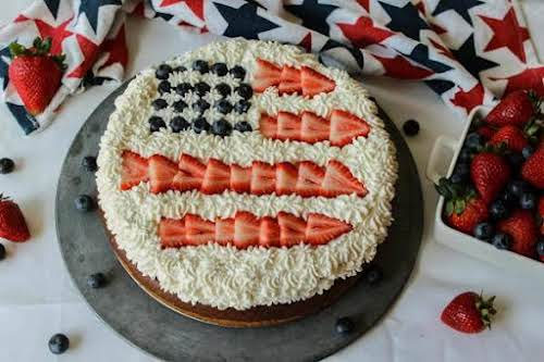"Patriotic Cheesecake ""This cheesecake beats any New York Cheesecake I've ever tasted...."