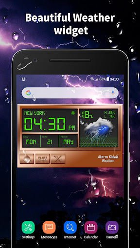 Alarm clock style weather widget 15.1.0.45940 screenshots 2