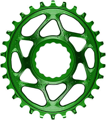 Absolute Black Oval Narrow-Wide Direct Mount Chainring - CINCH Direct Mount, 3mm Offset, Colored  alternate image 9