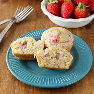 Strawberries and Cream Pancake Muffins
