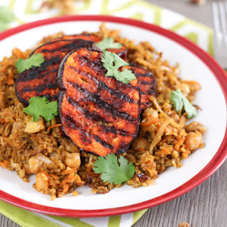 Moroccan Freekeh With Harissa Aubergine