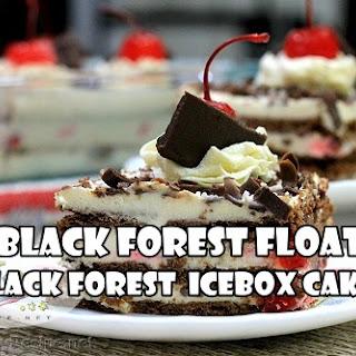 Black Forest Float Recipe (Black Forest Icebox Cake).