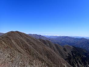 禿山から国見岳方面