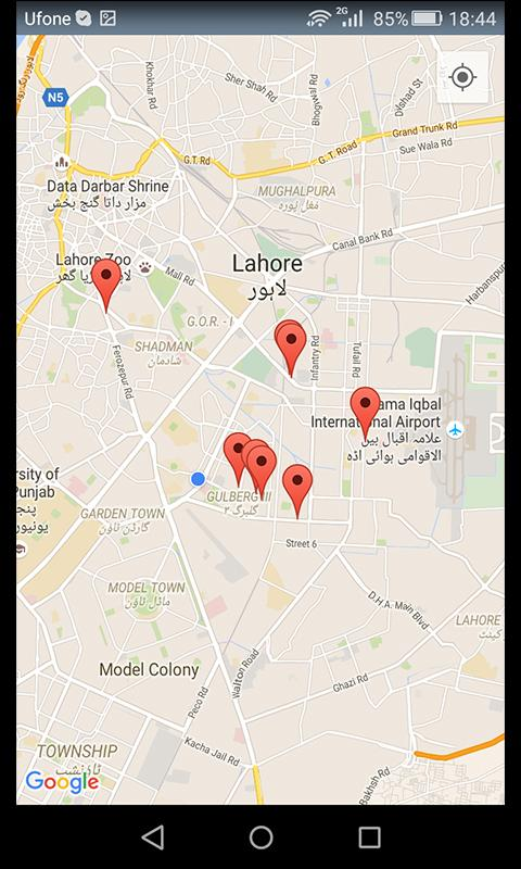 google maps mobile location tracking pakistan