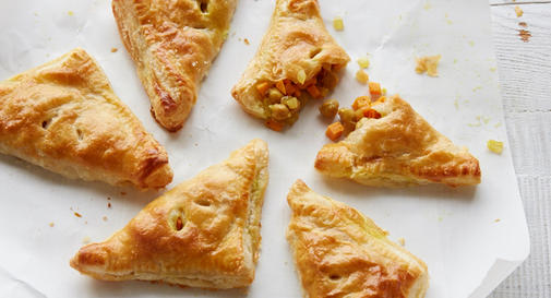 New-mom meal: Curried chickpea & sweet potato turnovers