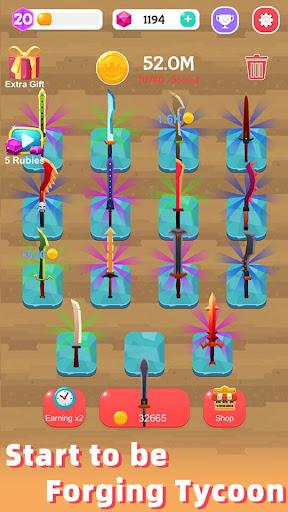 Merge Sword - Idle Blacksmith Master 1.3.4 screenshots 5