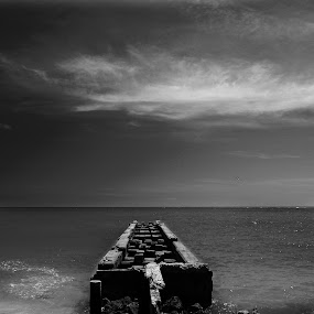 Calm by Jeremy Barton - Landscapes Beaches ( clouds, water, sky, florida, sea, beach, wall, sarasota )