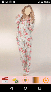 Girls Pajama Selfie Look - náhled