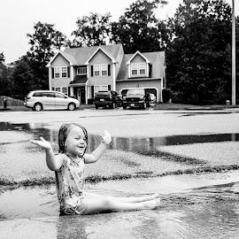Playing in the Rain ... by Kellie Jones - Babies & Children Children Candids