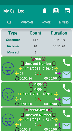 My Call Log