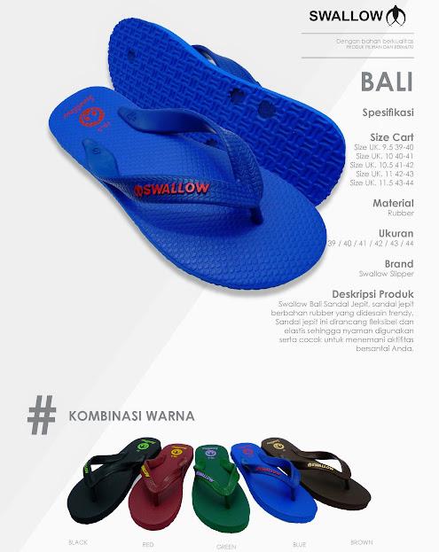 Sandal Swallow Premium Bali Ready Warna dan Ukuran