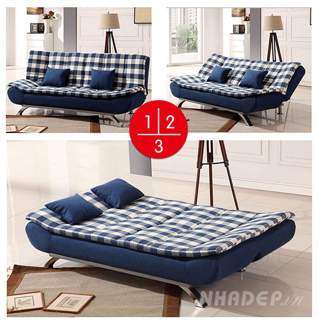 Sofa bed nhập khẩu có 3 góc độ ngả ghế tiện dụng cho nhiều hoàn cảnh