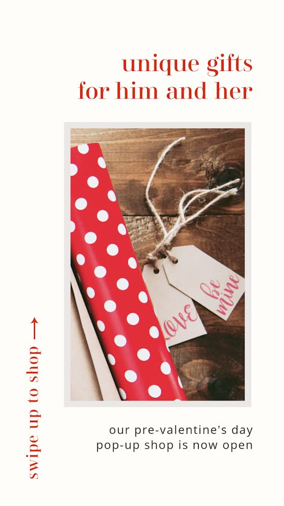 Unique Gifts for Him & Her - Valentine's Day Template