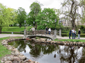 Photo: Locks on a bridge in Kronvalda Park