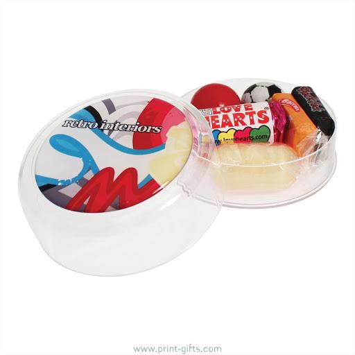 Printed Pots of Retro Mix Sweets