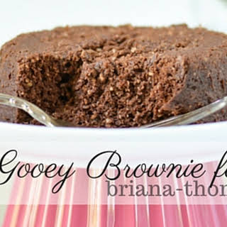 Gooey Brownie for One.
