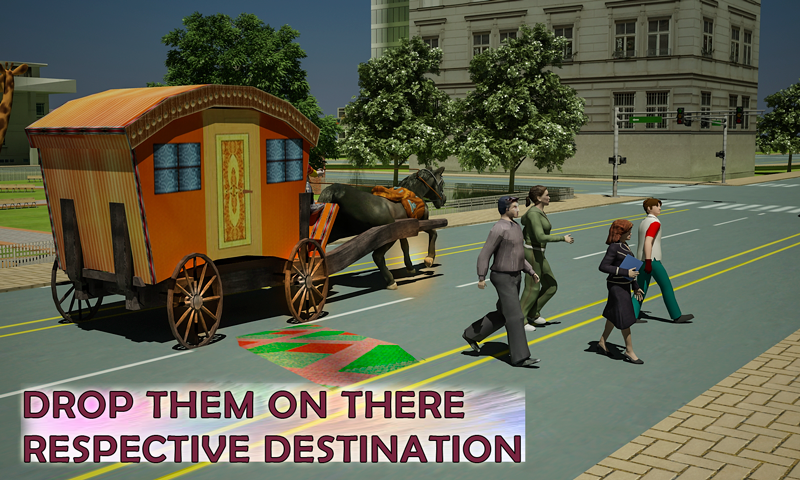 android Horse Carriage Transport Drive Screenshot 3