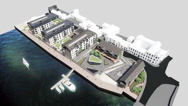 Artist impression of the Brunswick Wharf regeneration plans