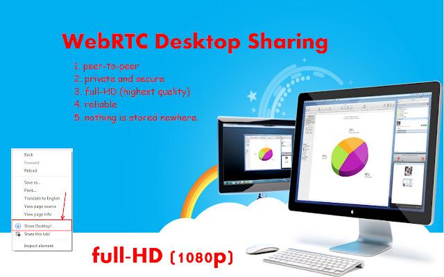 WebRTC Desktop Sharing