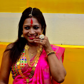 What a smile  by Santanu Goswami - People Portraits of Women