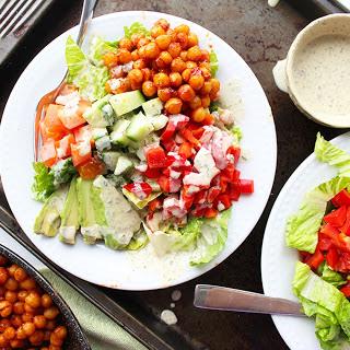 Barbecue Chickpea Ranch Salad [Vegan]
