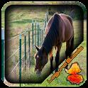 Wire Horse Fence Design icon