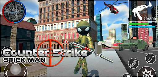 Clear your cities by shooting all terrorists through novel army stickman strike
