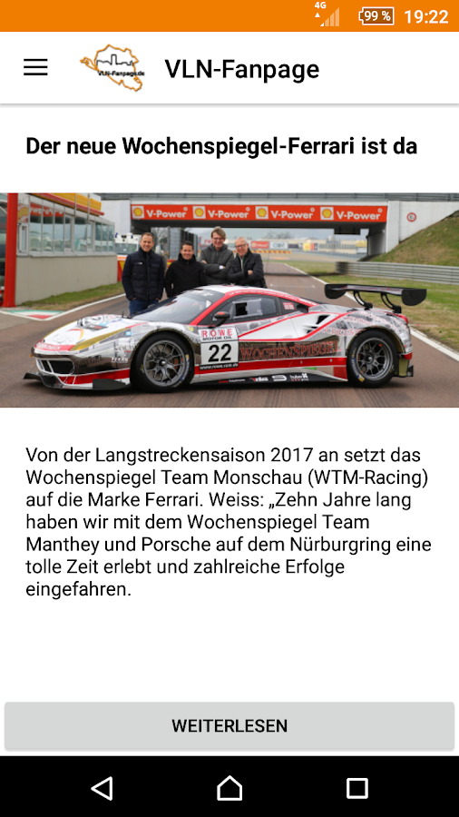 VLN-Fanpage News- screenshot