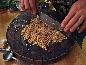 Photo: chopping unsalted roasted peanuts