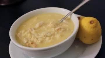 Greek Chicken Lemon Rice Soup