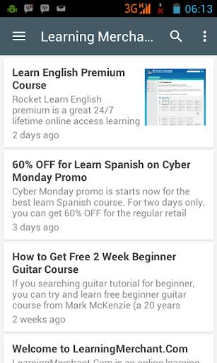 Learning Merchant