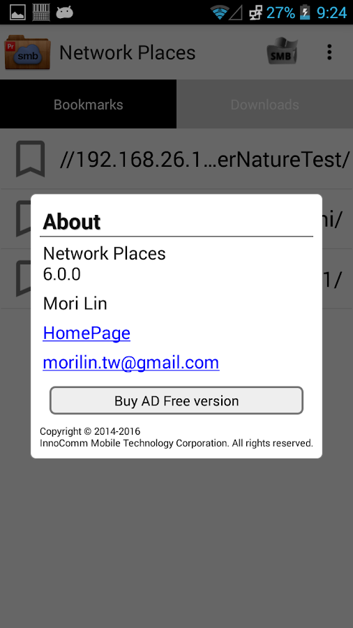 Network Places- screenshot