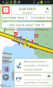 TESTVERSION  Watertrack ECO Törnplaner, Bootsnavi Screenshot