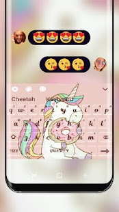 Foodie Unicorn Keyboard Theme - náhled